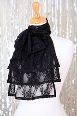 Black Lace Jabot (Mademoiselle Mermaid) Tags: jabot lace neckwear vintagestyle collar victorian frill ruffles ruffle handmade mademoisellemermaid romantic black blacklace blackjabot