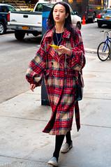 DowntownManhattan2015-2(NYC) (bigbuddy1988) Tags: street city nyc red portrait people urban woman usa newyork art youth asian photography nikon manhattan young culture ethnic d300 nikond300