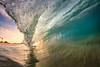 Sandys_1637 wm (MICHAEL A SANTOS) Tags: ocean beach sunrise hawaii sand surf waves oahu barrels beaches eastside sandys eastshore surfphotography inbetweens michaelasantos canon7d rokinon8mmfisheye saintsphotography liquideyewaterhousingc1795 toesphotos liquideyewaterhousings
