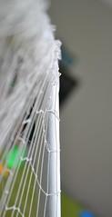 Soccer Net (K.Okawa) Tags: world life school light blur color art net love lines lens fun happy photography nikon colorful afternoon bokeh soccer uae happiness pale abudhabi noon behind simple abu dhabi gym recess depth leading feild