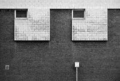 Silver Street Head (Delay Tactics) Tags: windows two bw white black film wall eyes pair sheffield grain explore