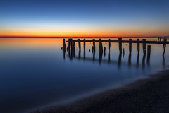 Hello Sunrise (Brian Krouskie) Tags: longexposure ontario silhouette sunrise pier blueribbonwinner fiftypoint