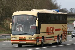 8732PG  Andrews, Tideswell (highlandreiver) Tags: bus coach andrews derbyshire cumbria tideswell tri carlisle m6 coaches axle neoplan 8732pg