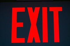 Exit Sign (imageClear) Tags: red sign out aperture nikon flickr exit entry exitsign photostream 105mm egress d7000 imageclear