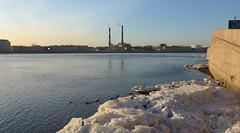 St Petersburg, Russia, 2015.03.26 | -, ,  . (deepskyobject) Tags: bridge sky ice water river stpetersburg march spring russia bluesky neva 2015   inthecity     riverflow icedrift