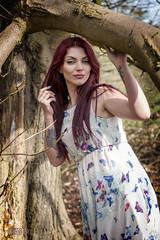 Sophie (sparkeyb) Tags: trees tattoo female woodland spring model woods nikon pretty dress longhair arboretum fullframe fx f28 inked longredhair d610 2870mm sparkeyb