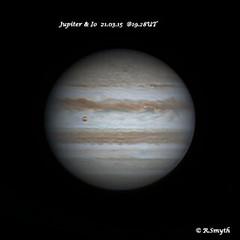 JUPITER & IO 21.03.15 @19.28 UT (Ralph Smyth) Tags: io planetjupiter northequatorialbelt