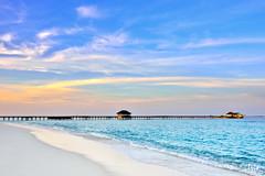(Clonedbird  & Iris ) Tags: sunset male landscape island nikon indianocean  maldives seaplane    d810  nokkor       haaalifuatoll jamanafaru