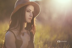 Mikayla (Lee Harland) Tags: hat canon goldenhour 135mm canon6d