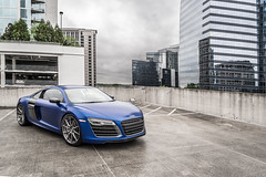 V10 (Foto Fresh) Tags: city blue atlanta sky 3 rooftop car georgia private photography design downtown skies sony parking citylife lot mount midtown cap e porn highrise hyatt plus fe audi buckhead supercar a7 matte v10 exhaust kw coilovers variant r8 2015 2470 a7ii capristo adv1 a7r 20x12 sepeng