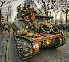 Canadian Army,Re-enacment of Liberation Groningen stad 1945 ,the Netherlands,Europe (Aheroy(2Busy)) Tags: history army europe tank military wwii canadian ww2 groningen 1945 liberation tanks secondworldwar groningenstad canadianarmy reenacment paterswoldseweg aheroy aheroyal bevrijdinggroningennl 70jaarbevrijdinggroningen liberationofgroningen
