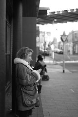 Woman in Waiting (robdphotographer) Tags: street people woman streetart canon person photography graffiti photographer streetphotography photoblog canon500d eoskissx3 eosrebelt1i streetphotographyuk follow4follow like4like robdphotographer