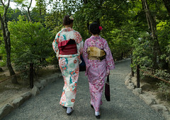 Chinese tourist women wearing geisha kimonos in a zen garden, Kansai region, Kyoto, Japan (Eric Lafforgue) Tags: trip travel white men travelling tourism beautiful wearing japan horizontal female hair walking asian outdoors japanese clothing women kyoto asia day dress adult feminine painted culture makeup tourist grace clothes geisha kimono gion colourful rearview tradition fullframe foreign hairstyle 2people twopeople adultsonly cultural attraction traditionaldress customs elaborate destinations traditionalclothing traveldestinations colorimage fromtheback kansairegion unrecognizableperson colourpicture japan161561