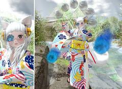 Water Tricks (Yukiterudiary) Tags: kemono haro altair aii doki cubic cherry kitsune magic water tricks sl secondlife