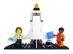 Women of NASA on LEGO Ideas - Sally Ride and Mae Jemison with Space Shuttle (pixbymaia) Tags: space nasa lego minifigures minifigs vignettes historyofscience historyofengineering women womenshistory pioneeringwomen womenofnasa nasahistory femaleminifigures femaleminifigs legoideas toys toy actionfigures role models sallyride maejemison spaceshuttle sts model legos astronauts scientists doctors