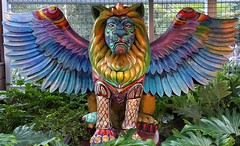 Imperial Lion (Gillian Everett) Tags: imperial hotel eumundi queensland australia lion art artwork colour rainbow 89 116 2016