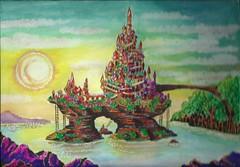 island (regina11163) Tags: painting island sunset fairyland fantasy unreal paintingreproduction natural beauty
