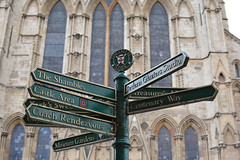 Signs (Carine06) Tags: york yorkshire england city northyorkshire minster church cathedral sign signpost theshambles castle museum