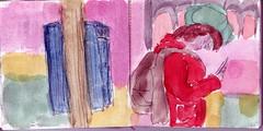 Schwarzfahrer zahlten ein erhhtes Befderungsentgeld aber wozu gab es das eigentlich, Befrderung. Sie wrde Google fragen (raumoberbayern) Tags: auto city pink winter dog bus fall smart car pencil paper munich mnchen landscape herbst tram sketchbook hund stadt papier landschaft bleistift robbbilder skizzenbuch strasenbahn