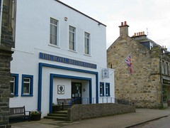 The Royal British Legion (jimsawthat) Tags: scotland smalltown uk unitedkingdom fraternal lodge military flag grantownonspey