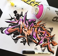 Style exchange to Mower (Medium Touch (ME) Crew - MALAYSIA GRAFFITI) Tags: mower stylewriting styleexchange mediumtouch schwarzmaler asmoe
