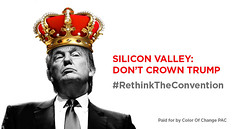 RNC Campaign - Silicon Valley Billboards (colorofchangelibrary) Tags: people color blackwhite graphic mj trump gop 2016 camp16 divestfromhate