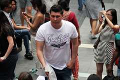Faces of New York: big American boy (Canadian Pacific) Tags: usa us unitedstates ofamerica america american city urban newyork manhattan people newyorker aimg6736 timessquare man men guy