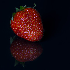 Strawberry (stefanfricke) Tags: red reflection rot strawberry fav50 sony erdbeere a6000 ilce6000