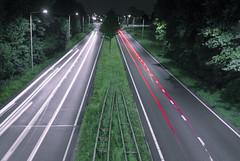 changing lanes (bas.handels) Tags: night longexposure longexpo le slowshutter avond langesluitertijd sluitertijd nacht heerlen parkstad limburg