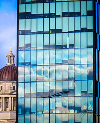 BRYAN_20160225_IMG_1690 (stephenbryan825) Tags: reflection glass architecture liverpool buildings graphic details vivid dome threegraces portofliverpoolbuilding selects mannisland
