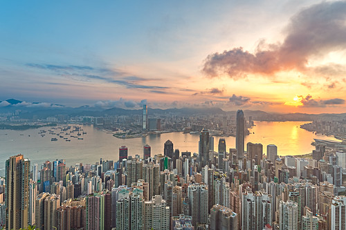 Sunrise at The Peak, Hong Kong