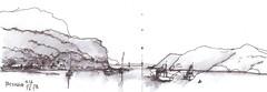 Dark Corner - Patonga (panda1.grafix) Tags: brisbanewaters landscape seascape patonga inkandpenwash