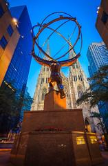 Atlas (duncan_mclean) Tags: night atlas 5thavenue statue stpatricks newyorkcity internationalbuilding centre rockefeller evening cathedral manhattan