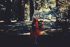 (mcdagson) Tags: forest reddress girl blonde hair art mysterious