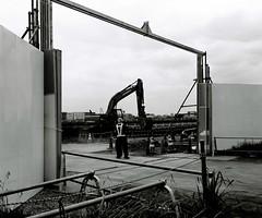 (Misao Hasegawa) Tags: makina 67 nikon tmax monochome blackandwhite bw haneda runway black white tokyo construction plaubel
