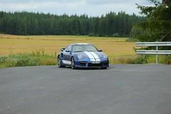 "997 turbo - 009 (Erkka Suominen) Tags: ""cobalt blau porsche"" blue ""bridge gantry"" nürburgring ""porsche 911 turbo"" ""911 ""997 ""pwr700"" ""evoms evt775"" ""evt775"" ""nürburgring bridge pccb"