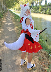 RinCosplay_001 (Ragnarok31) Tags: rin cosplay loup fort roseaux arbre japonais sabre