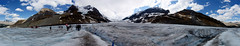 360 Athabasca Glacier Panorama (Stefan Jrgensen) Tags: columbiaicefield athabascaglacier icefieldsparkway alberta canada canadianrockies rockymountains clouds sky bluesky ice snow mountains sony dslra700 a700 panorama 360 360