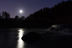 Instead of the Perseids (El Mariachi Minsk) Tags: lowlight lowlightphotography landscape landscapes moon stars star water reflection waterfall nature canon7d canon canoneos canonllens canon1740 llens lseries sky wideangle