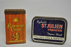 224/366 A drink and a smoke (katy1279) Tags: 366project tins oldtins historictins cocoa tobacco backintheday