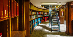 Higher Knowledge (Brian Travelling) Tags: higher knowledge pictonlibrary pictonreadingroom hornbylibrary liverpool liverpoolcentrallibrary england interesting interior architecture design books bookshelves bookshelf staircase stair banister pillars pentaxkr