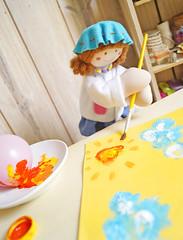E completar o lindo desenho com o pincel! (Ateliê Bonifrati) Tags: cute girl diy drawing craft stamp tutorial pap pintando carimbo bexiga passoapasso bonifrati