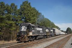 NS P70 3/16/15 (tjtrainz) Tags: ex train ga georgia high charlotte ns district south norfolk railway southern hood local division piedmont sou doraville gp382 p70