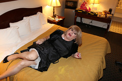 new111253-IMG_5339t (Misscherieamor) Tags: tv feminine cd motel tgirl transgender mature sissy tranny transvestite crossdress ts gurl tg lbd travestis littleblackdress travesti travestie m2f onbed xdresser tgurl slipshowing