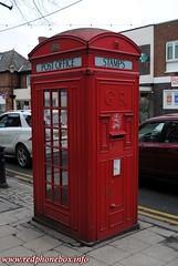 Frodsham, Church Street pic2 (Rob redphonebox.info) Tags: red booth call phone box telephone k2 british kiosk bt telecom k4