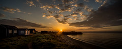 Northumberland, Alnmouth Beach Huts (dave hudspeth photography) Tags: sea sun beach sunrise dawn sand huts northumberland alnmouth iconic holyisland davehudspeth
