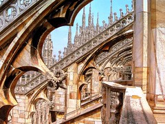 Il Duomo (cherylkerkin) Tags: milan architecture gothic medieval duomo ilduomo gothicarches gothicwindow medievalbuildings medievalcathedral gothicspires gothiccathedrals