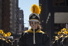 087/365: The flautist in the front line (dharder9475) Tags: woman black yellow intense serious candid flute marchingband flautist 2015 benitojuarezhighschool 365project 087365 privpublic chicagonowruzfestival