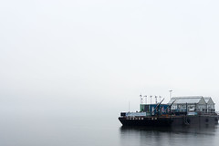 Today's forecast...FOG! (R. Millz) Tags: rain weather fog science hudsonriver barge meteorology visibility 365project
