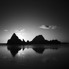 Low Tide, A Reflection (nlwirth) Tags: sanfrancisco california longexposure blackandwhite monochrome yup sealrocks nlwirth